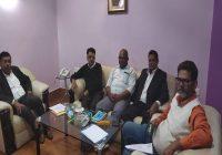 बीसीए सचिव पर लगे आरोपों के लिए गठित जांच समिति के चेयरमैन संजय कुमार सिंह के नेतृत्व में हुई पहली बैठक